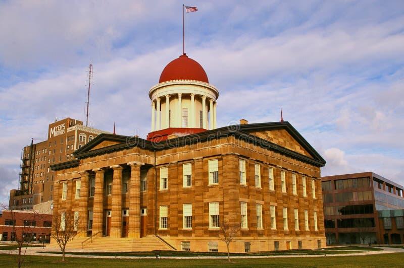 Illinois Gammal TillståndsCapitol Royaltyfri Fotografi