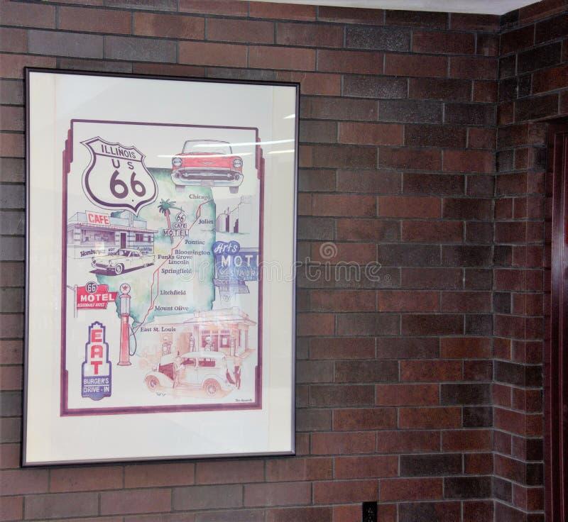 Illinois Mile widziany centrum dekoracje obrazy royalty free