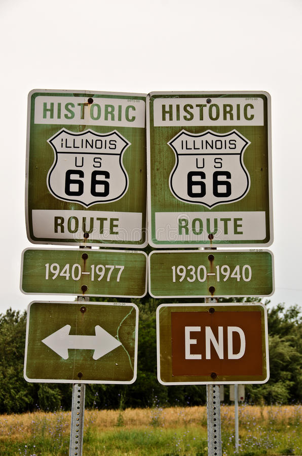 Download Illinois Route 66 Signs stock illustration. Image of route - 25796790