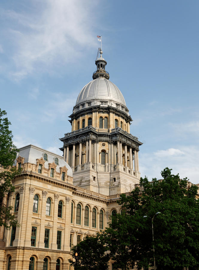 Illinois State Capitol stock images