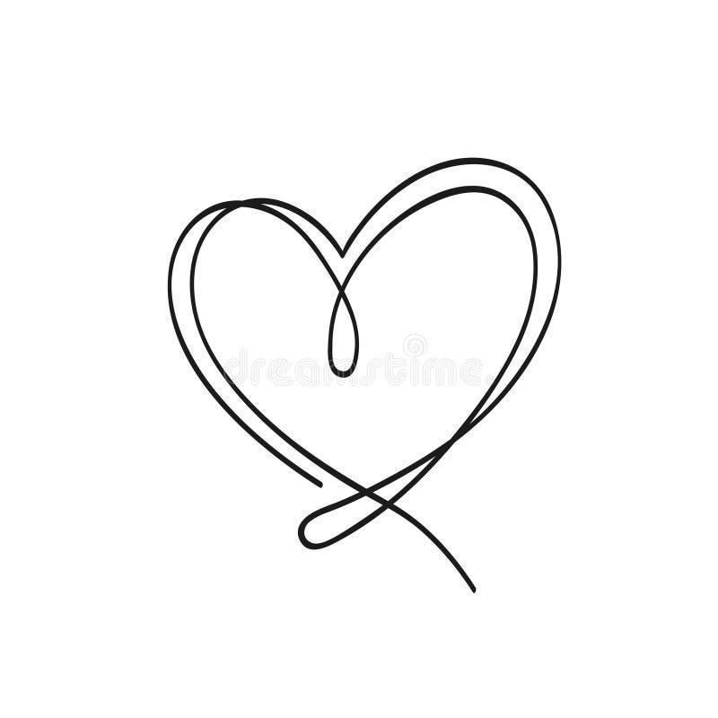 Illistration del corazón del esquema Puede ser utilizado en las banderas del día de tarjeta del día de San Valentín y las tarjeta libre illustration