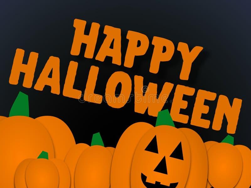 Illlustration del saludo de Halloween foto de archivo