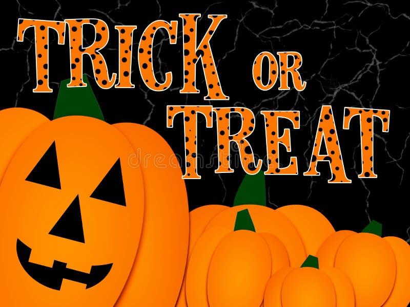 Illlustration del saludo de Halloween imagenes de archivo