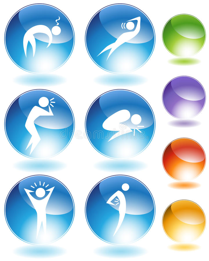 Download Illness Crystal Icon Set stock vector. Illustration of dizzy - 15034301