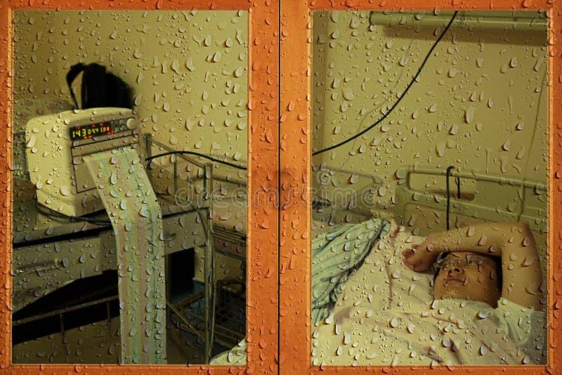 Illness situation, rainy situation stock photos