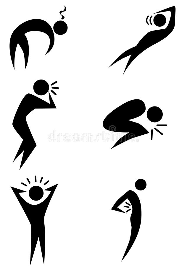 Free Illness Stick Figure Set Royalty Free Stock Photos - 13584108