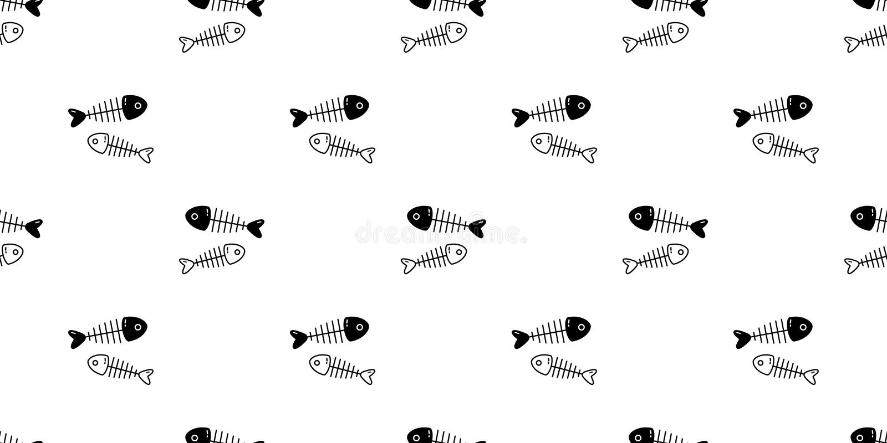 Illu de papier peint de répétition de Halloween de fond de tuile de bande dessinée d'isolement par écharpe saumonée sans couture  illustration libre de droits