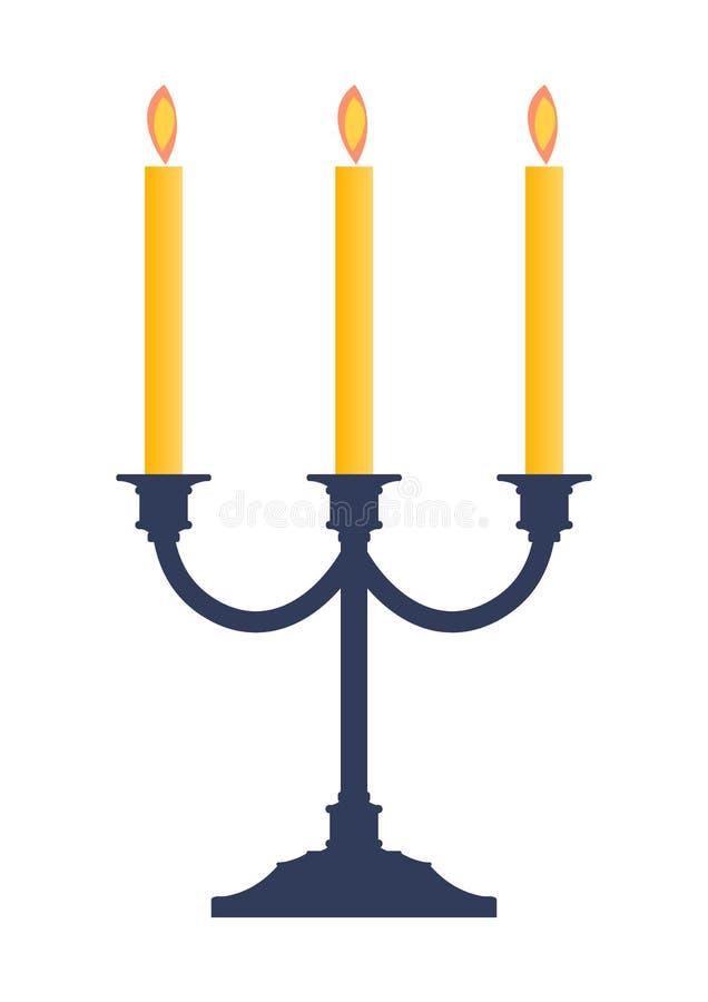 illu för stearinljusljusstakehållare stock illustrationer