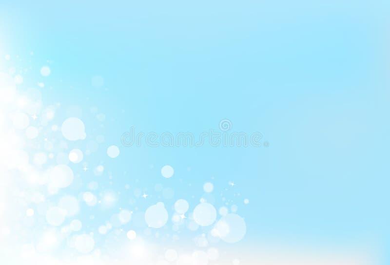 Illu mágico do vetor do fundo do sumário da celebração do céu fresco do borrão ilustração do vetor