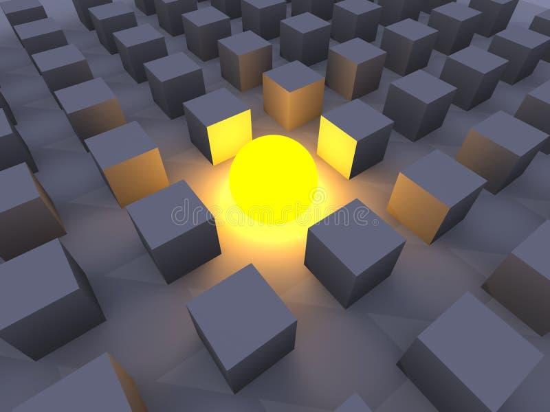 Illuminé illustration stock