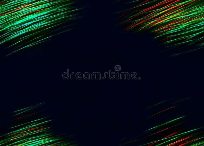 An illuminated abstract digital wave of not clear luminous particles and a flash light effect. Technological concept of a radio or. Sound wave. Abstract stock photo