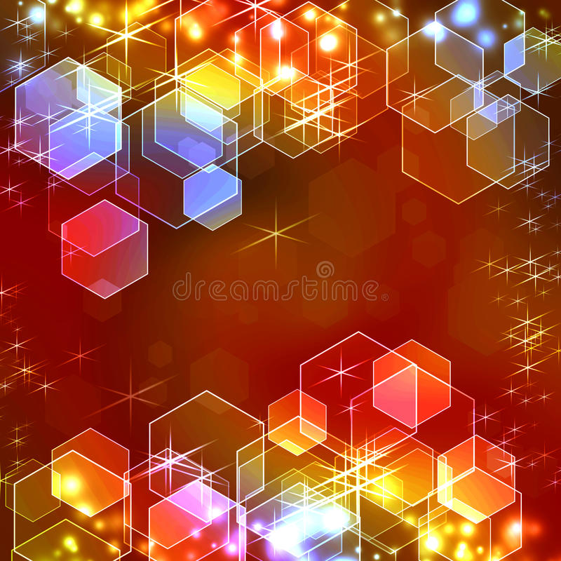 Download Illuminated background stock illustration. Illustration of colorful - 19009584