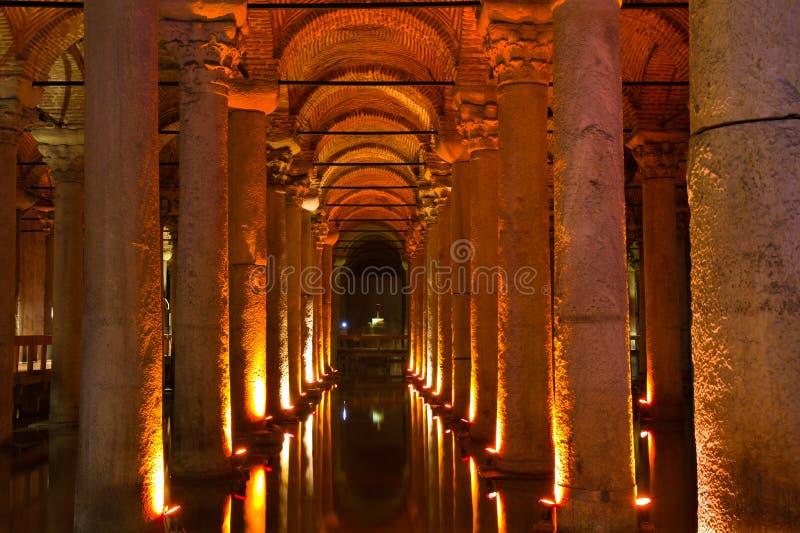 Download Illuminated Basilica Cistern Stock Images - Image: 21673504
