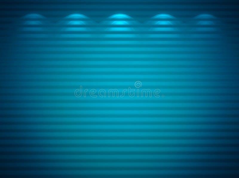 Illuminated Blue Wall Royalty Free Stock Photography