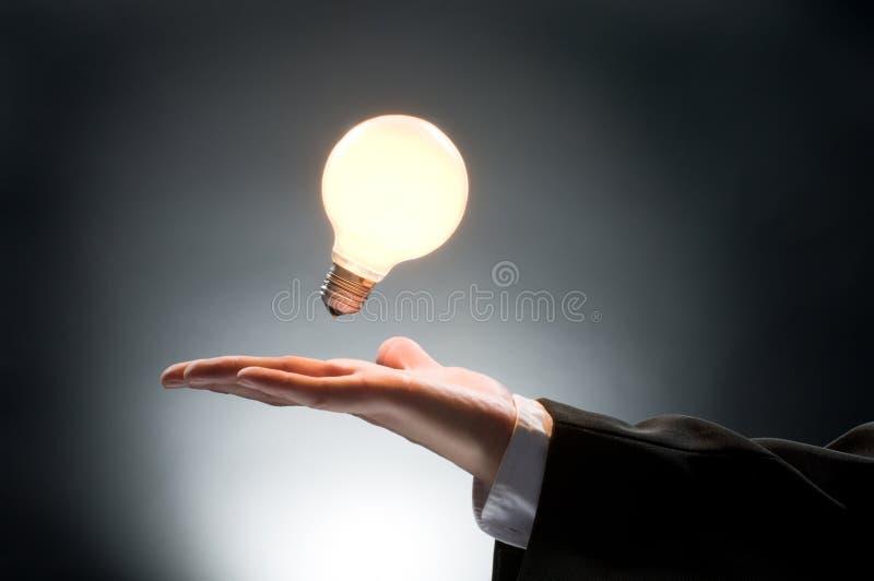 Illuminated bulb royalty free stock photo