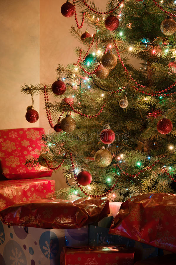 Download Illuminated Christmas Tree Royalty Free Stock Photos - Image: 26682768