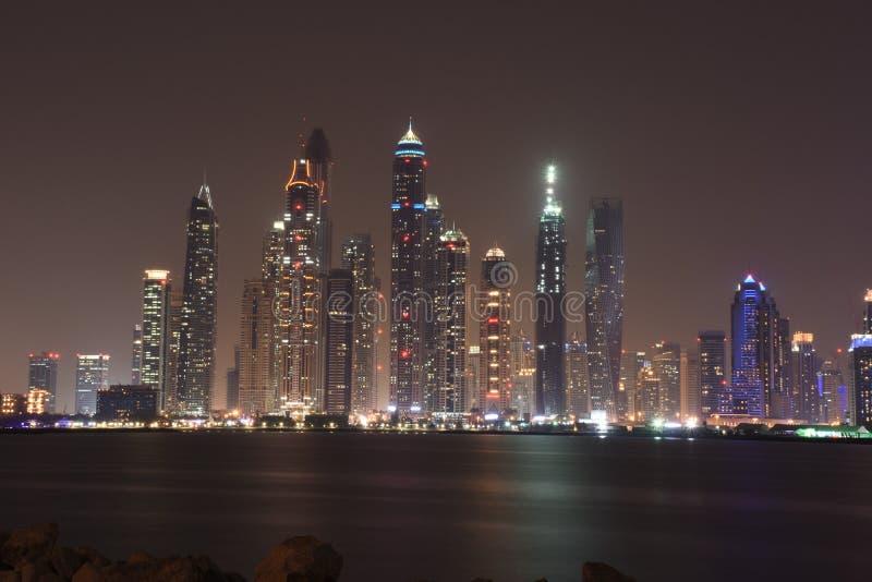 Illuminated City at Night stock images