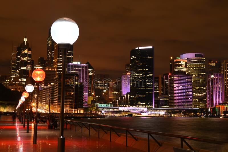 Illuminated City At Night Free Public Domain Cc0 Image