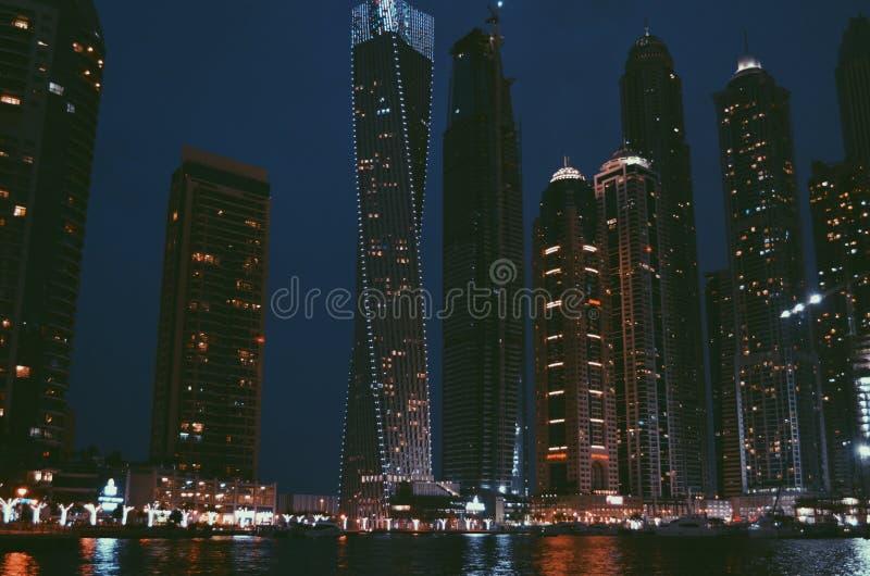 Illuminated City at Night royalty free stock photography