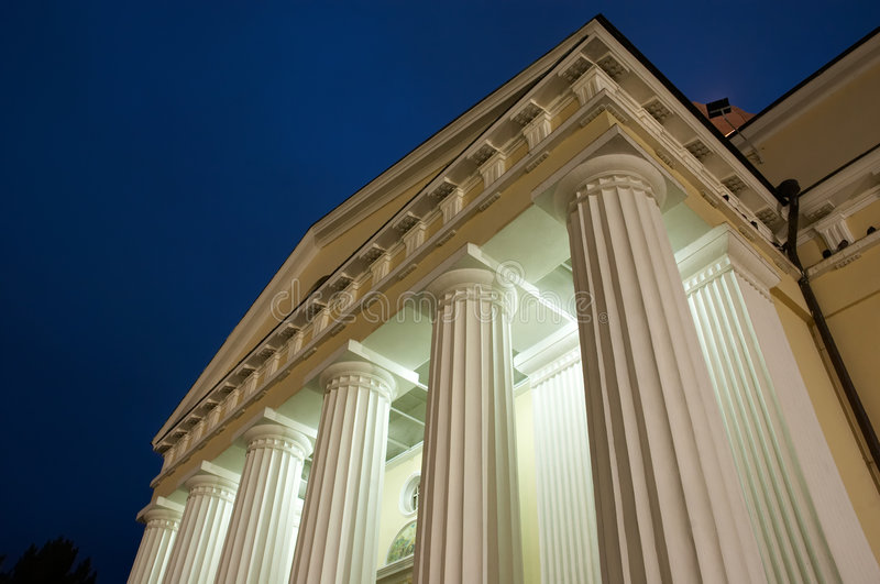 Download Illuminated columns stock image. Image of court, architecture - 3814733