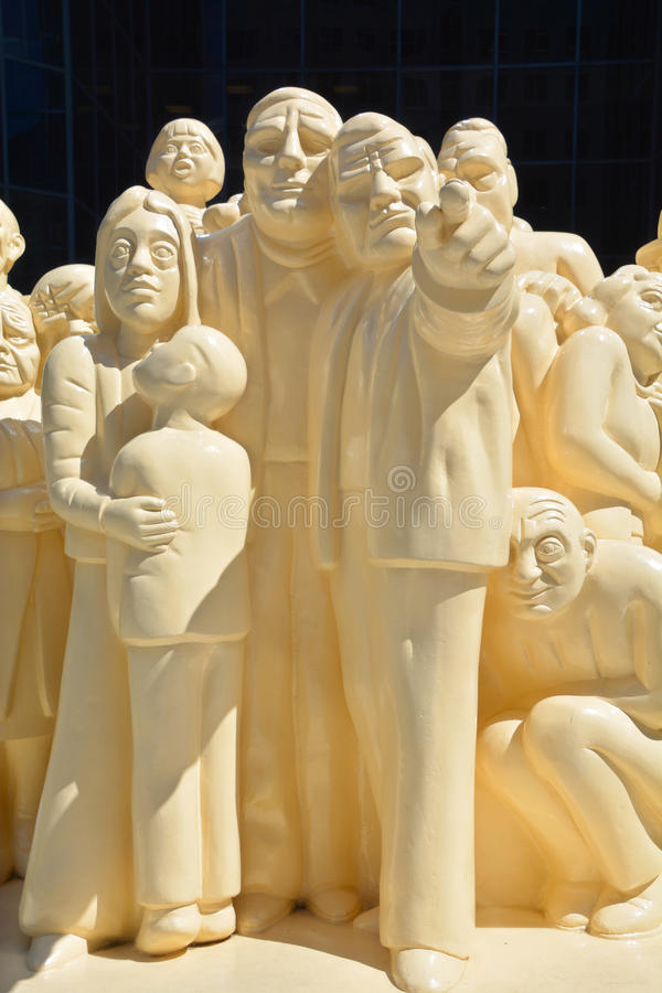 The Illuminated Crowd royalty free stock images
