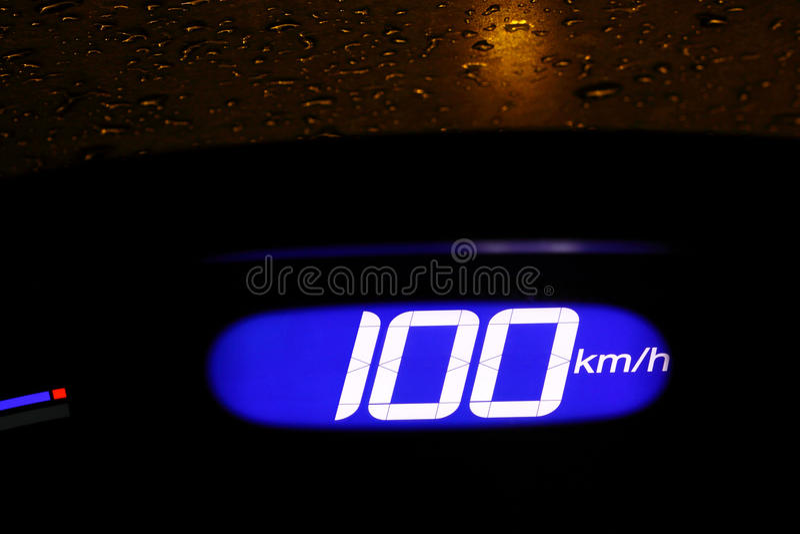 Download Illuminated Digital Speedometer Stock Image - Image: 9517947