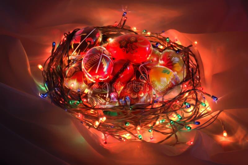 Illuminated easter basket