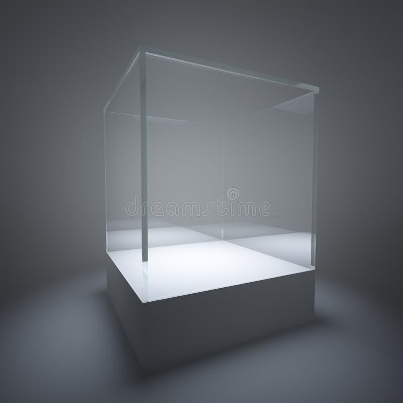 Download Illuminated Empty Glass Showcase Stock Illustration - Illustration: 21612924