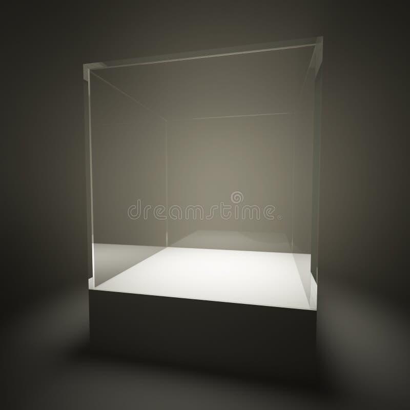 Download Illuminated Empty Glass Showcase Royalty Free Stock Photo - Image: 21612925