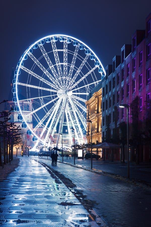 Download Illuminated ferry wheel stock image. Image of built, ferris - 28122497