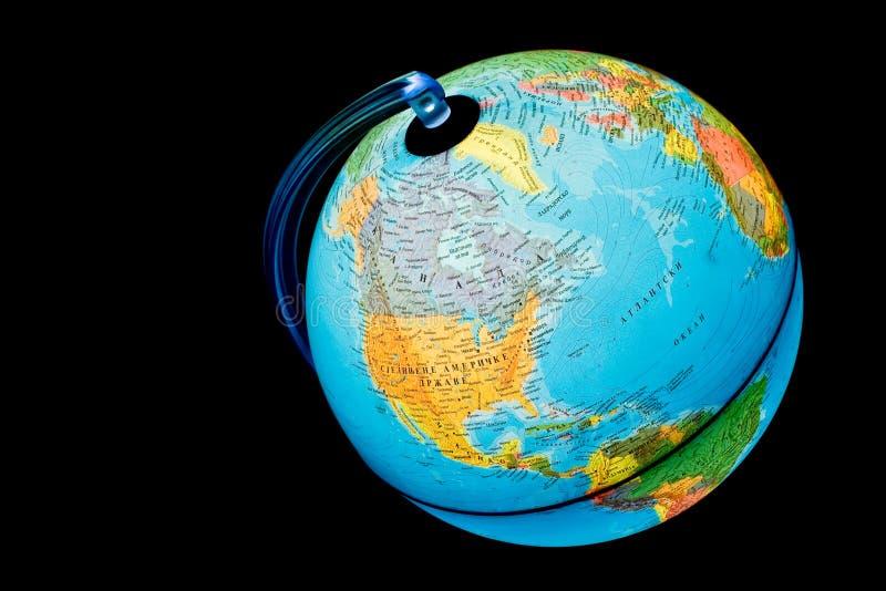 Illuminated Globe - North America and Atlantic stock photos