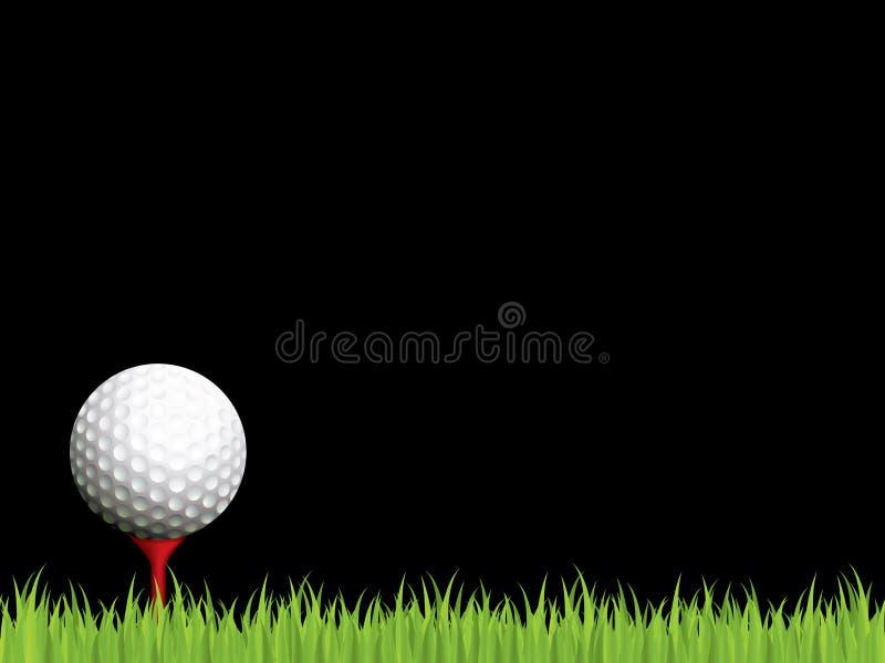 Illuminated golf scene royalty free illustration