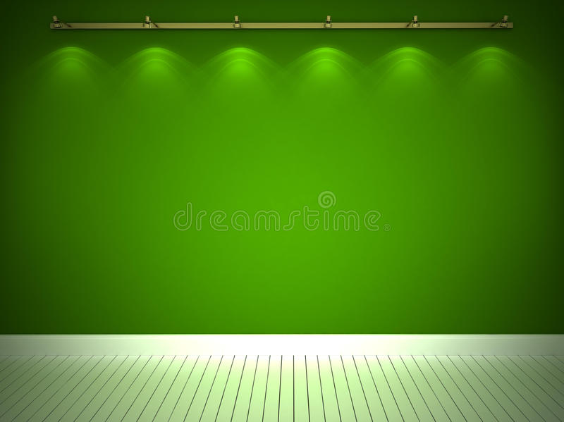 Download Illuminated green wall stock illustration. Image of classic - 22917340
