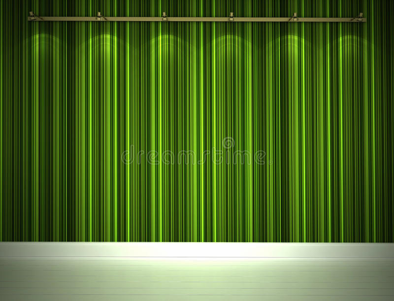 Illuminated Green Wall Royalty Free Stock Photo