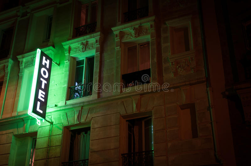 Download Illuminated hotel sign. stock image. Image of outdoor - 25223479