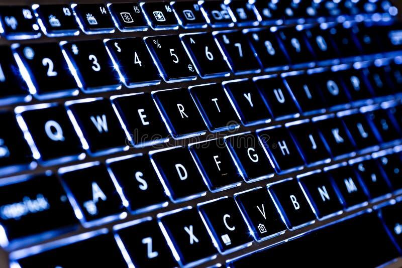 Illuminated Keyboard royalty free stock photography