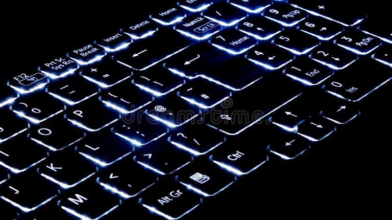 Illuminated keyboard royalty free stock image