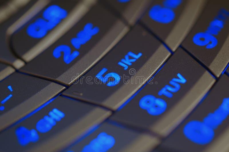 Illuminated Keypad royalty free stock photography