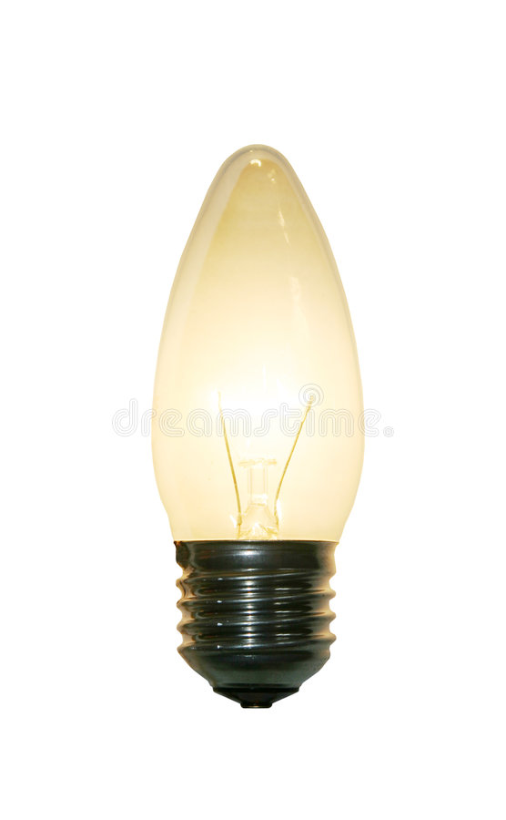Illuminated lightbulb royalty free stock photography
