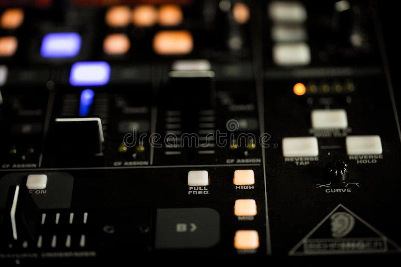 Download Illuminated Lights On A DJ Deck Stock Photo - Image: 27464134