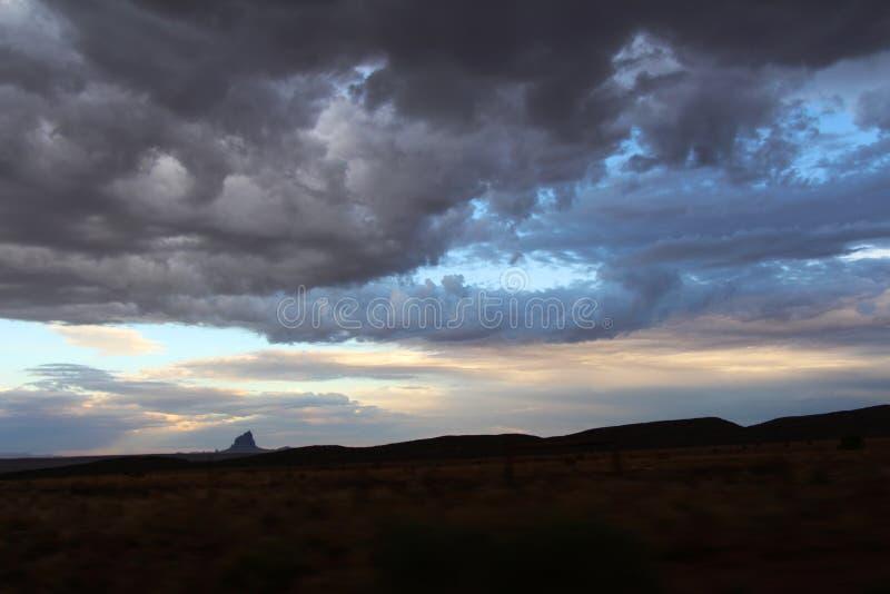 Illuminated magic clouds stock images