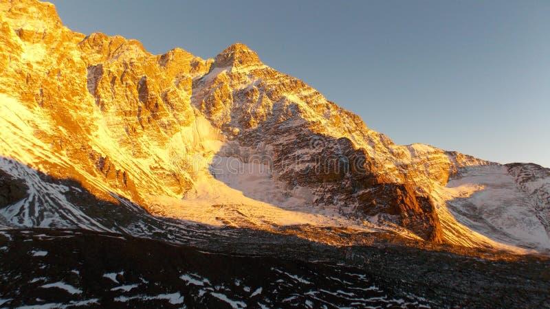 Illuminated Mt. Rincón 5364 masl royalty free stock photo