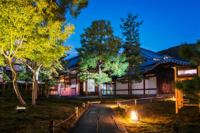 Illuminated Path at the Autumn Festival at the Kodaiji Temple, Kyoto. Illuminated Path at the Autumn Festival at the Kodaiji Buddhist Temple in Gion District stock images