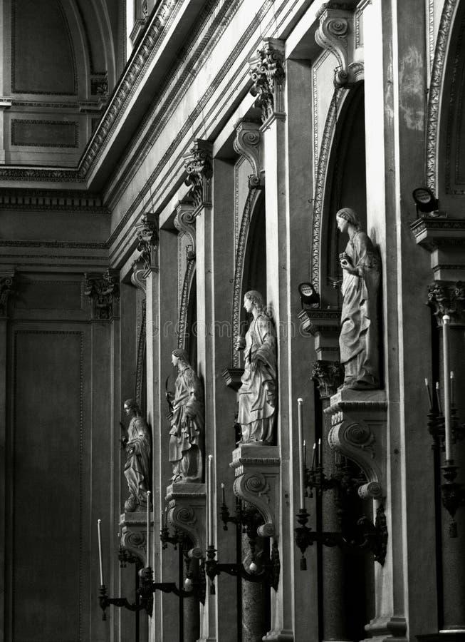 Illuminated Saints of Palermo stock image