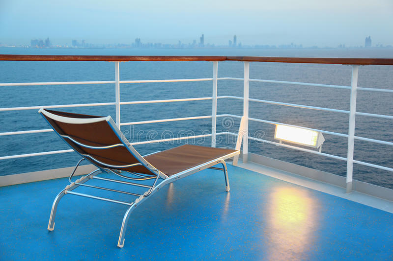 Download Illuminated Solitary Deck-chair On Ship Stock Photo - Image: 17215106
