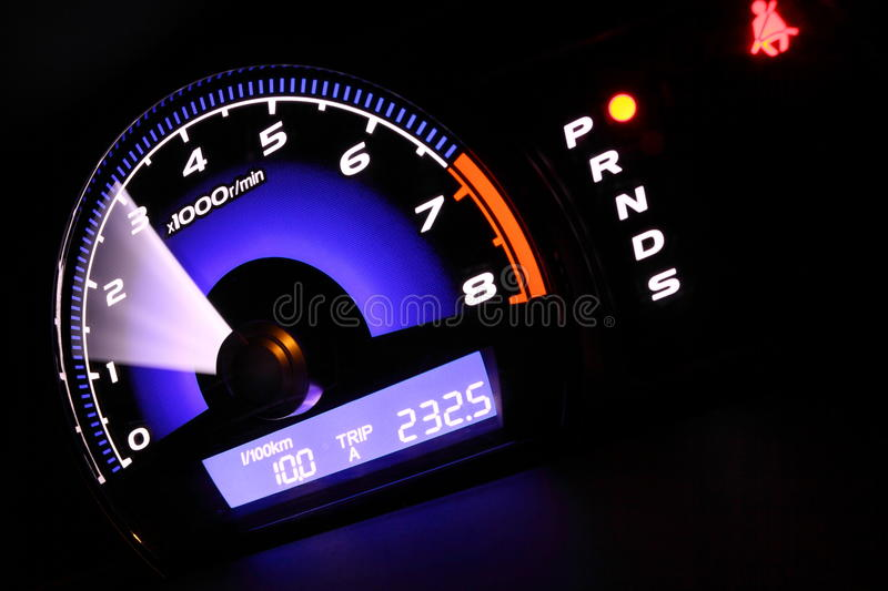 Download Illuminated speedometer stock photo. Image of glow, illuminate - 9726208