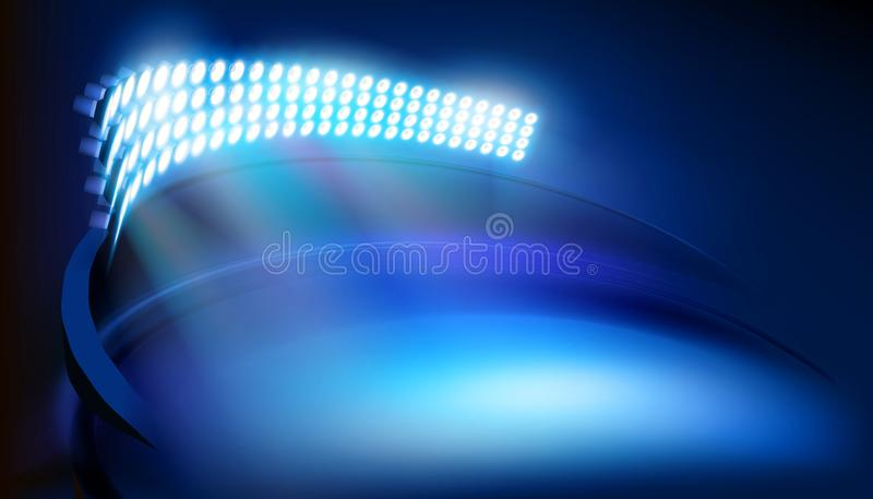 Illuminated stadium. Vector illustration. vector illustration