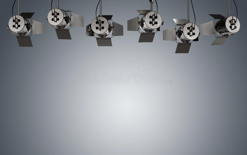 Illuminated stage background stock images