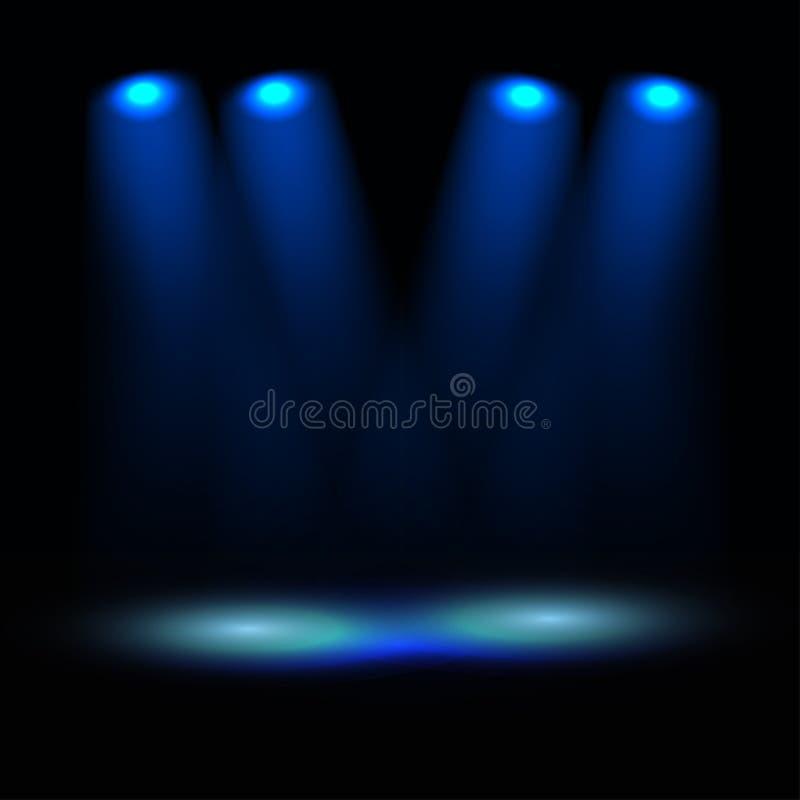 Download Illuminated Stage Illustration Stock Photo - Image: 22161950