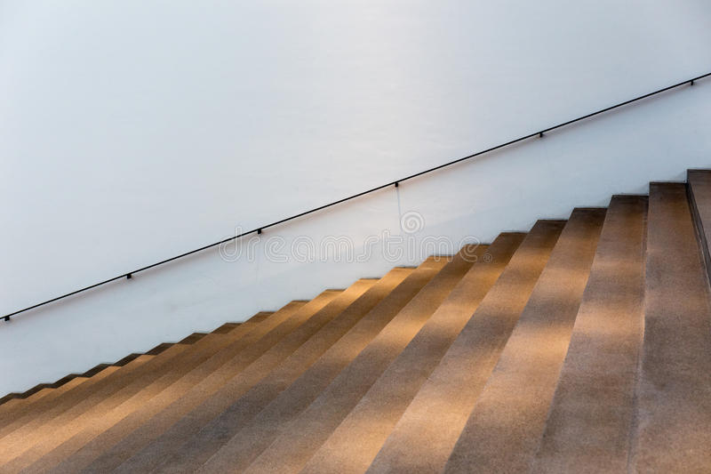 Illuminated stairs royalty free stock photography